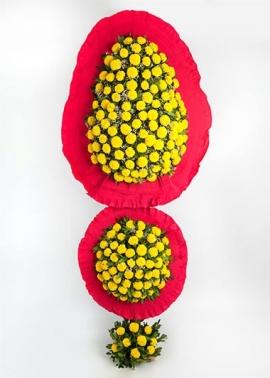 2'li Gelin Duvağı Sarı Çiçekli