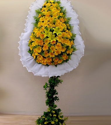 Sarı 80 Adet Gerbera Sepeti