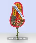 Tekli Renkli Çiçeklerden Çelenk