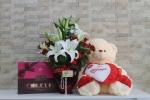 Büyük Ayıcık Signature Spesiyal 256Gr Çikolata Kalp Çiçek