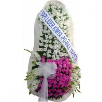 Gelin Duvağı Beyaz ve Pembe Çiçekli