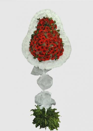 Kırmızı Gerbera Ayaklı Sepet
