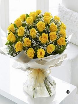 Sarı Gül Buketi 21 adet