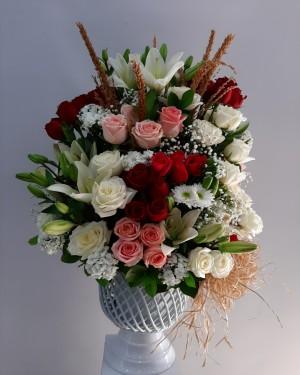 Örgülü Seramikte Özel Tasarım Çiçek